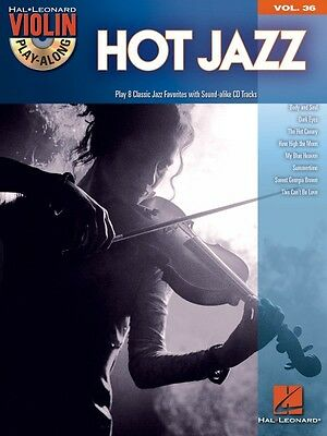 Hot Jazz Sheet Music Violin Play-Along Book and CD NEW -