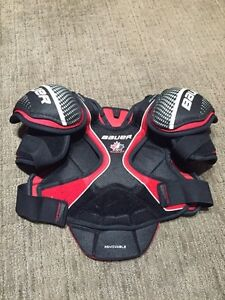 Hockey stuff - shoulder, shin, gloves, skates Strathcona County Edmonton Area image 5