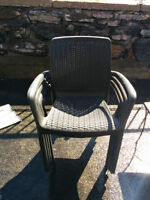 4 patio chairs or best offer