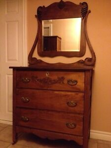 circa 1910s antique dresser with mirror