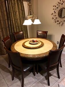 Gorgeous and solid casual dining table - moving sale Cambridge Kitchener Area image 1