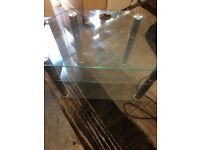 Glass TV unit and matching coffee table