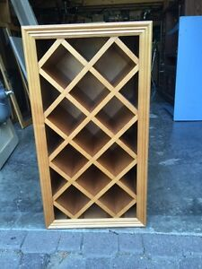 Solid Maple 11 Bottle Wine Rack (Half Stained)