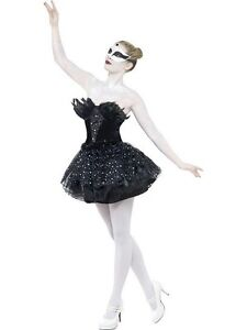 NEW-Gothic-Swan-Lake-Masquerade-Ladies-Halloween-Vampire-Witch-Fancy-Dress