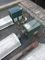 2 Infrared Radiant Gas Heaters