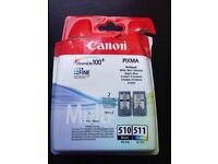 Canon Printer Ink Black510 & Colour 511