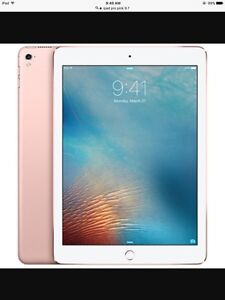 Pink iPad Pro 9'7 comes with wireless key board .. NEW PRICE 700