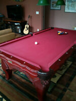 Gorgeous Pool Table For Sale - Cue Rack & Accessories