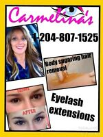 Eyelash extensions/ Body sugaring hair removal