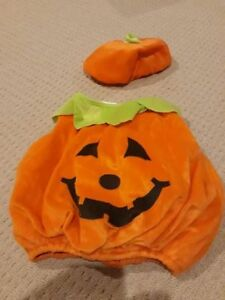 Pumpkin Halloween Costume (0-18m)