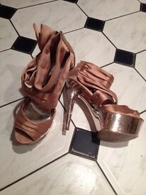 Lipsey of london 6inch heels platform shoes expensive new size 6 uk vgc