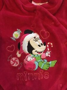 Minnie Mouse Christmas sleeper 3 months
