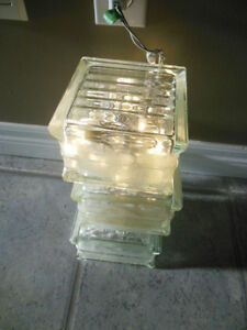 Glass cube with lights London Ontario image 1