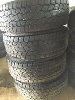 LT265/70/17 TOYO OPEN COUNTRY TIRES+RIMS 90%