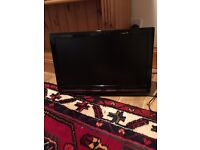 19 inch flat screen TV with DVD player