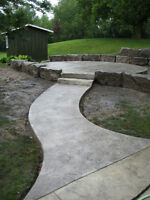 Hardscape landscaper and concrete former / finisher