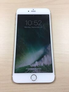 iPhone 6S Plus 64 GB Rose Gold with leather case