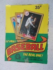 1987 OPC Baseball Unopened Box of 36 packs