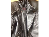 Motorcycle leather jacket armoured chopper classic cruiser (30 ONO)