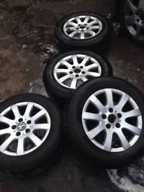 Vw Mk 5 Golf Alloys With Tyred