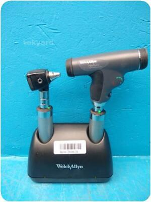 Welch Allyn 7114x Desk Charger W 11820 Panoptic Ophthalmoscope Handles 9610