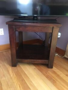 Gorgeous end tables, solid hardwood