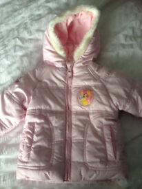 New disney princess padded coat 6-9 mths