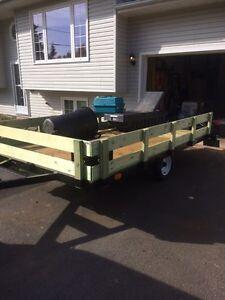 7' x 11'.    Utility trailer