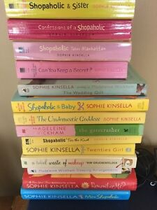 Shopaholic series + other Sophie Kinsella + Madeline Wickam
