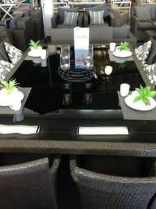 Segals Black Wicker Dining, Alum - Crazy Price 65% Off RRP:$1599 Karrinyup Stirling Area Preview
