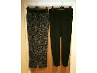 Ladies soft tapered trousers - size 10/12