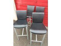 4 x KITCHEN BAR STOOLS