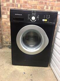 Daewoo 6kg black washing machine- excellent condition