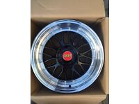"BRAND NEW BMW 18"" BBS LMS STYLE BLACK M3 M3 ALLOY WHEELS-DEEP DISH E90 E92 E93 3 SERIES 4 SERIES"
