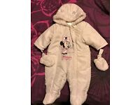 Minnie Mouse snowsuit 3-6 months
