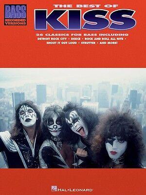 The Best of Kiss for Bass Guitar Sheet Music Bass Recorded Versions NE