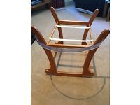 Mothercare Moses basket stand - rocking - as new