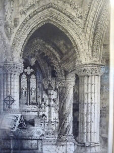 Original Etching of Roslyn Chapel, Edinburgh by Albany Howarth Stratford Kitchener Area image 3