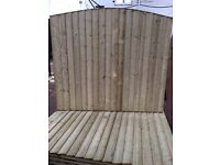 Bow top feather edge fence panels