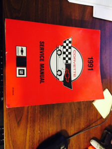 1991 CORVETTE SERVICE MANUAL GREAT CONDITION
