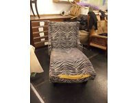 Vintage, mid-century US chaise longue - newly upholstered, needs top fabric - upholstery project