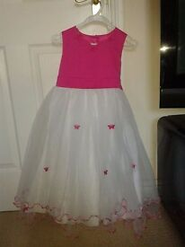 Pink flowergirl dress