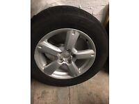 Toyota RAV4 alloy and tyre