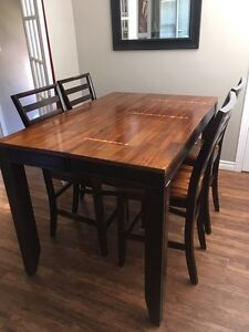 """Abaco 54"""" Square Counter Height Leg Table & Four Chairs Kingston Kingston Area image 1"""