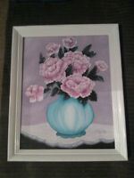 Oil Painting with White Frame