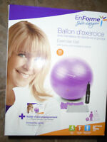exercise ball with pump and resistance bands , 55 cm
