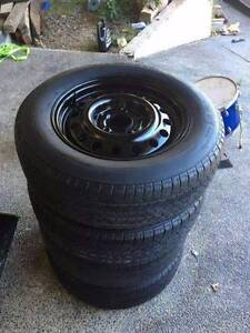 Holden Commodore wheels tyres stockies  good condition Morisset Lake Macquarie Area Preview