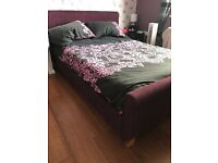 Purple double bed frame