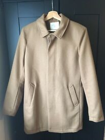 Men's Selected Homme Wool overcoat in camel