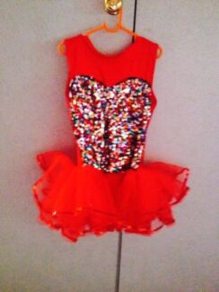 Red Sequined Dance Costume  Eden Hill Bassendean Area Preview